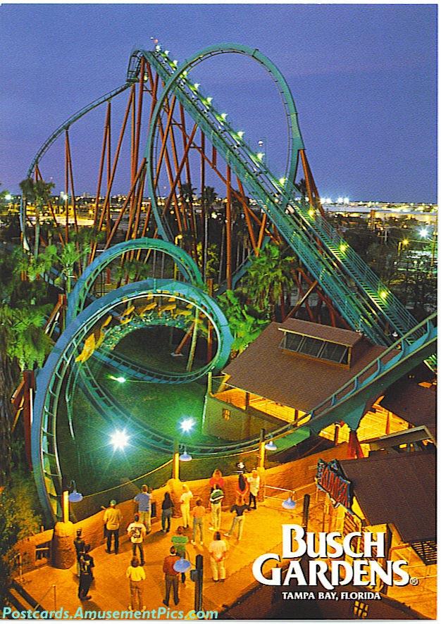 Busch gardens tampa postcards - Roller coasters at busch gardens ...